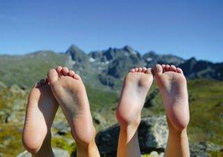 Einfach mal die Füße und die Seele baumeln lassen.