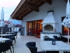 Ferienhotel Bergland - Terasse mit offenem Kamin