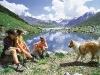 Eine Erfrischung am Bergsee