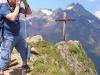 Blick auf eines der vielen Gipfelkreuze